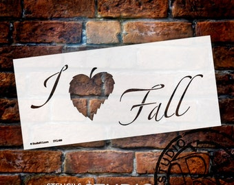 I Leaf Fall Stencil - Select Size - STCL488 - by StudioR12