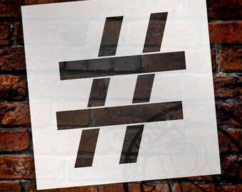 Hashtag -Classic Serif Letter Stencil - Select Size - STCL1700 - by StudioR12