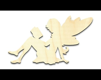 """Reading Fairy Figure Surface w/ Wings - Small - 4-1/8"""" x 7-1/2""""- SKU:WDSF1182"""