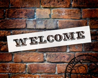 """Word Stencil - Welcome - Old Post Headline - 15"""" X 3""""- STCL591"""
