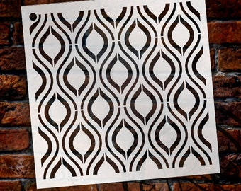 Ogee Pattern Stencil - Select Size - STCL1024 by StudioR12