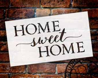 Home Sweet Home Stencil - by StudioR12 - Reusable Mylar- Paint Wood Signs, DIY Wall Decor- Barn Wood - Canvas- New Home Gift- SELECT SIZE