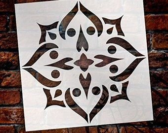 Mandala - Spades - Complete Stencil by StudioR12 | Reusable Mylar Template | Use to Paint Wood Signs - Pallets - Pillows - Wall Art -...