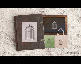 Simple Dome Birdcage Art Stencil - Select Size - STCL747 - by StudioR12
