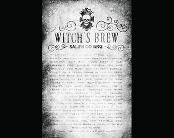 """Witch's Brew Halloween Collage Paper - 11"""" x 17""""-CLPR200"""