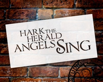 Hark The Herald Angels Sing - Christmas Stencil - Select Size - STCL1386 - by StudioR12