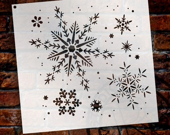 "Delicate Snowflake Stencil by StudioR12 - Christmas, Holiday, Santa, Painting, Winter, Window, Mixed Media, Chalk- 6 1/2"" X 6 1/2""- STCL163"
