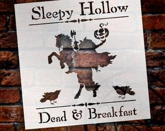 Sleepy Hollow Dead & Breakfast  - Word Art Stencil -Select Size - STCL1284 - by StudioR12