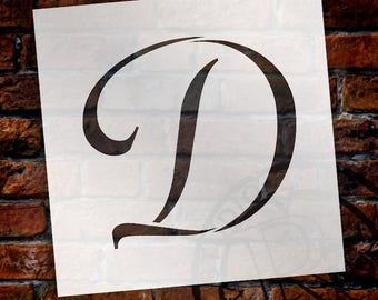 D  -Graceful Monogram Stencil  - Select Size - STCL1904 - by StudioR12