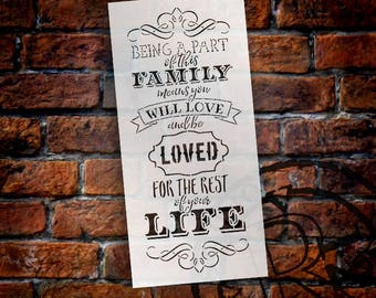 Part of this Family Word Art Stencil - Select Size - STCL1311 by StudioR12