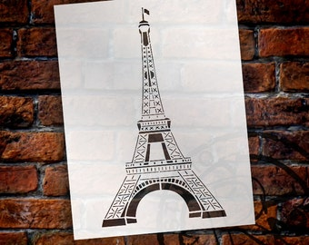 Eiffel Tower Art Stencil - Select Size - STCL916 by StudioR12