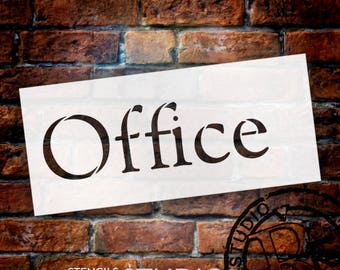Office Simple - Word Stencil - Select Size - STCL2081 - by StudioR12