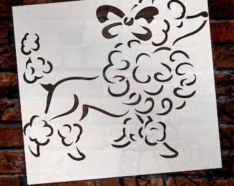 French Poodle - Art Stencil - Select Size - STCL1049 - by StudioR12