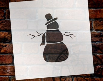 Christmas Shapes Stencil - Dapper Snowman - Select Size - STCL1578 - by StudioR12