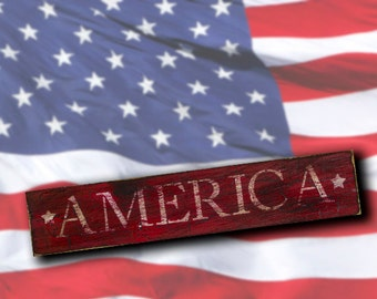 America - Word Stencil - Select Size - STCL1245 by StudioR12