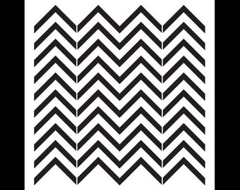 Small Chevrons-Pattern Stencil-Select Size - STCL704 - by StudioR12