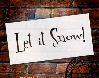 Let It Snow - Funky Retro - Word Stencil - Select Size - STCL1389 - by StudioR12