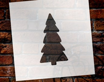 Christmas Shapes Stencil - Simple Tree - Select Size - STCL1555 - by StudioR12