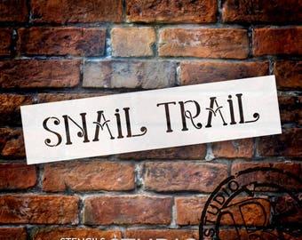 Snail Trail - Swirls - Word Stencil - Select Size - STCL2175 - by StudioR12