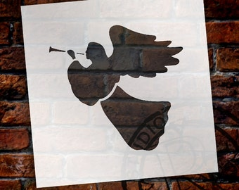 Christmas Shapes Stencil - Christmas Angel - Select Size - STCL1550 - by StudioR12