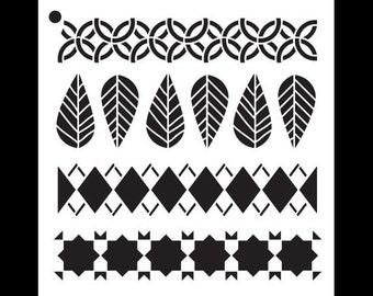 "Fall Fashion - Pattern Stencil - 6"" x 6""- STCL931_1 by StudioR12"
