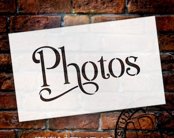 Wedding Sign Stencil - Photos - Elegant Traditional - Select Size- STCL1746 - by StudioR12