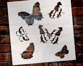 Graceful Butterfly Pattern Stencil - Select Size - STCL364 by StudioR12