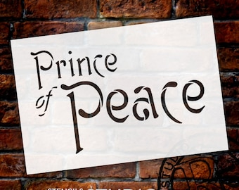 Prince of Peace - Christmas Stencil - Select Size - STCL1376 - by StudioR12