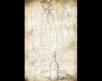 Wine Bottle Background Transfer Paper -  Antique 10x16 - IMTB075 by StudioR12
