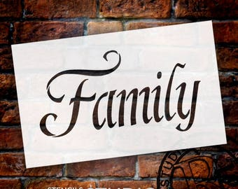 Family - Fancy - Word Stencil - Select Size - STCL2156 - by StudioR12