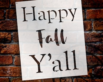 Happy Fall Y'all - Basic - Word Stencil - Select Size - STCL2101 - by StudioR12