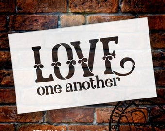 Love One Another - Celtic Style - Word Stencil -Select Size - STCL1839 - by StudioR12