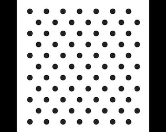 "1/4"" Dots Pattern Stencil-Select Size - STCL620 - by StudioR12"
