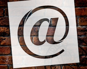 At Symbol - @ -Classic Serif Letter Stencil - Select Size - STCL1712 - by StudioR12