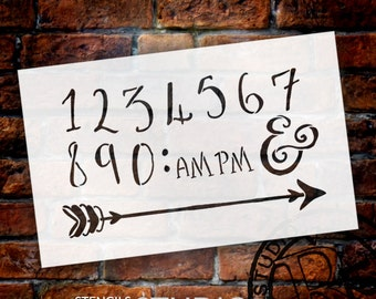 Wedding Sign Stencil - Numerals & Embellishments - Fancy Funky - Select Size- STCL1631 - by StudioR12