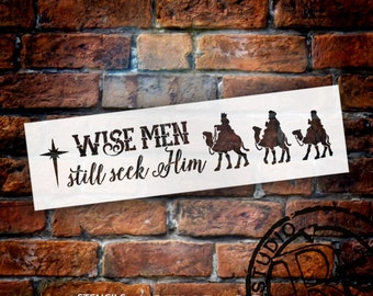 Wise Men Still Seek Him - Long With Camels - Word Art Stencil - Select Size - STCL1541 - by StudioR12