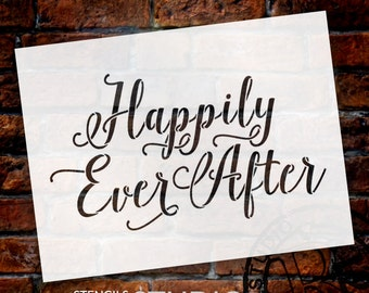 Happily Ever After Word Art - Hand-Drawn Script - Select Size - STCL1010 - by StudioR12