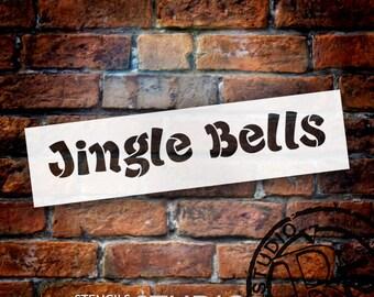 Jingle Bells Funky - Christmas Stencil - Select Size - STCL1372_1