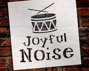 Joyful Noise - Christmas Stencil - Select Size - STCL1368 - by StudioR12