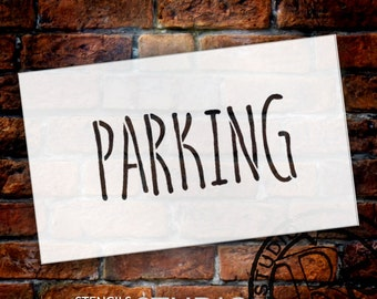Wedding Sign Stencil - Parking - Skinny Hand - Select Size- STCL1643 - by StudioR12