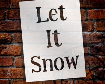 Let It Snow - Funky - Word Stencil - Select Size - STCL1367 - by StudioR12