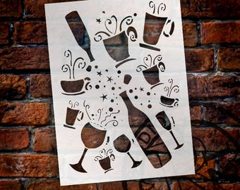 Cup Full of Magic Stencil - Choose Your Size - SKU:STCL122