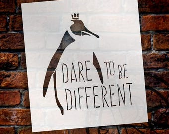 Dare To Be Different - Skinny - Word Art Stencil - Select Size - STCL1862 - by StudioR12