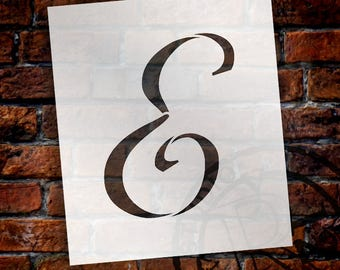 E  -Graceful Monogram Stencil  - Select Size - STCL1905 - by StudioR12