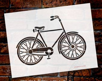 Basic Vintage Bicycle Art Stencil - Select Size - STCL1056 - by StudioR12