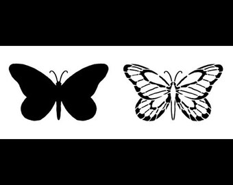 """Butterfly Believe Stencil - 15"""" X 6"""" - STCL335 - by StudioR12"""