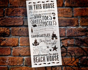 In This Beach House - Word Art Stencil - Select Size - STCL1309 - by StudioR12