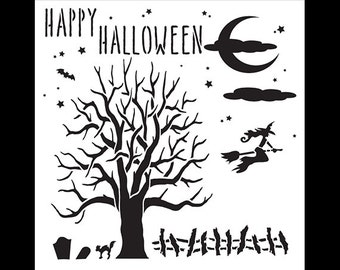 All Hallows Eve - Art Stencil - Select Size - STCL1182 by StudioR12