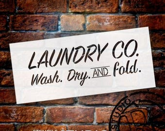 Laundry Co. - Word Stencil - Select Size - STCL1857 - by StudioR12