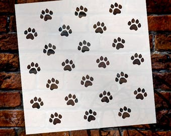 Paw Prints-Pattern Stencil-Select Size-SKU:STCL705